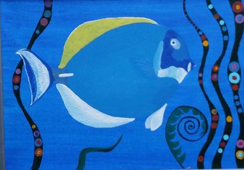 Aquarium series, Acryl on canvas 40x30 cm not available