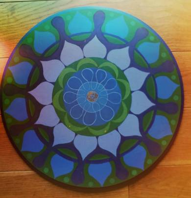Wheel - Acril on wood 50 cm
