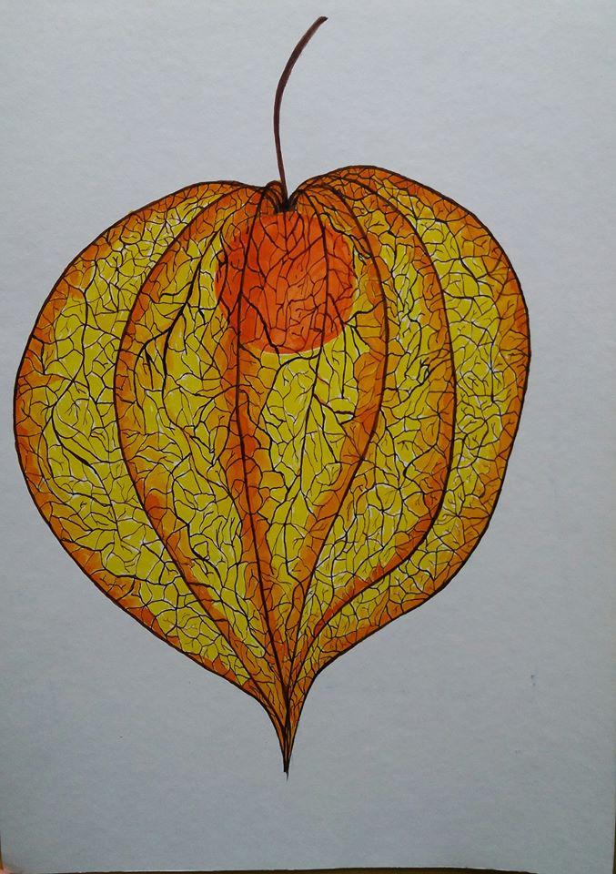 Autumn beauty 2, Ink on paper 30x40cm