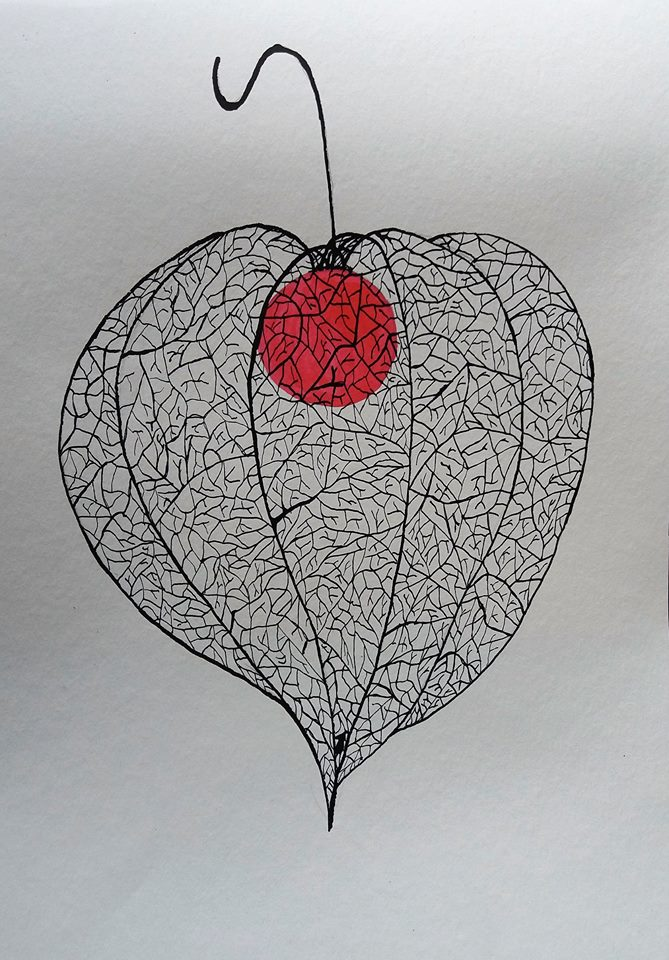 Autumn beauty 1, Ink on paper 30x40cm