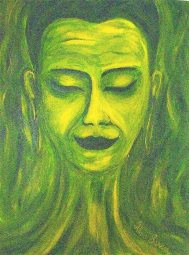 mother, acril on canvas 45x60cm