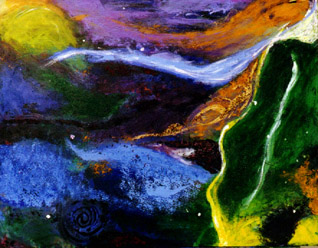 Universe, acril on canvas 50x60cm