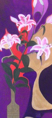 Fragrance of oriental lilies, acril on canvas 30x100cm not available