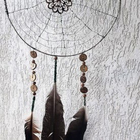 Dream catcher, wire & fethers p20cm
